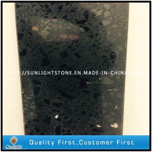 Black Artificial Quartz Stone Tiles for Kitchen and Bathroom pictures & photos