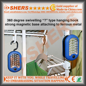 Dual Functions 27 LED Round Magnetic Work Light with Integral Hanging Hook pictures & photos