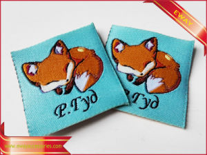 Kids Clothing Woven Patch Garment Fabric Woven Patch pictures & photos