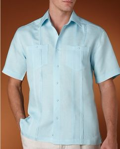 Elegant Guayabera Men Casual Shirt of Short Sleeve (SHM-03) pictures & photos
