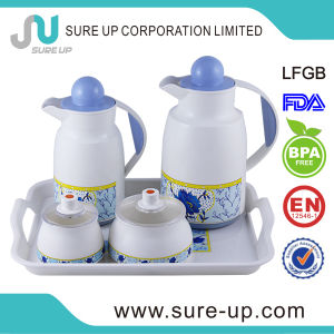 Flower Paiting Middle East Plastic Family Suits Flask Tea Jug (JGHM) pictures & photos