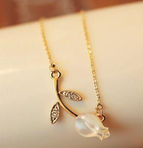 2013 Rhinestone Rose Flower Necklace Jewelry (MOS-NA02505)