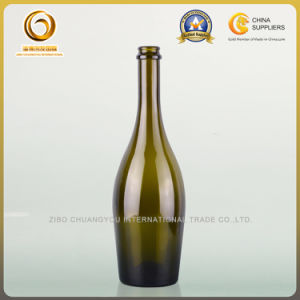 Wedding Celebration 750ml Champagne Glass Bottle with Cork Top (323) pictures & photos