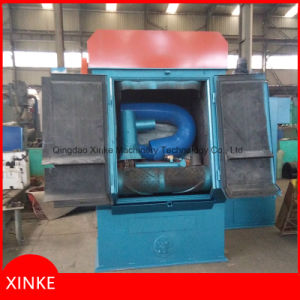 Tumblast Belt Rubber Track Small Shot Blasting Machine pictures & photos