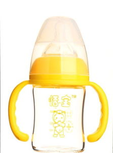 120ml Diamond Glass Baby Bottle pictures & photos