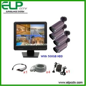 4CH Security Camera System with DVR Monitor All in One (ELP- DVR1504C-D7240F)