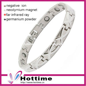 Silver Magnetic Titanium Bracelet with Magnet pictures & photos
