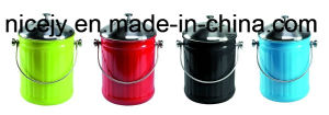 5L Powder Coat Tabletop Compost Caddy/Compost Pail/Kitchen Waste Bin pictures & photos