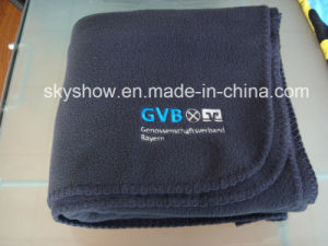Navy Blue Customed Fleece Blanket (SSB0126) pictures & photos