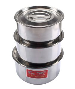 3PCS Stainless Steel Pots pictures & photos