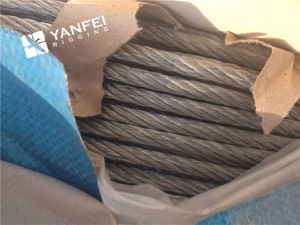 6*7+Iwrc Galvanized Steel Wire Rope for Elevator pictures & photos