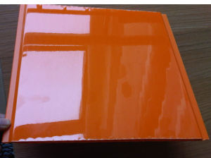 PVC Panel Printing High Glossy Orange Color pictures & photos