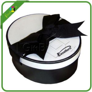 Round Gift Box with Lids and Black Ribbon for Decoration pictures & photos