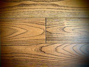 Wire-Brush Finish Asian Teak Hardwood Flooring Sw-4394