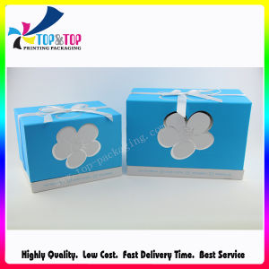 Base and Lid Style Paper Gift Box with Bowknot pictures & photos