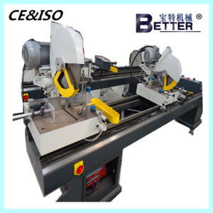 High Quality Plastic Window Double Head Cutting Machine pictures & photos