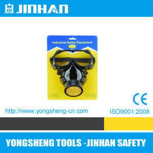 Jinhan Valved Filter Gas Mask Anti Toxic Respirator Industrial (D-1009A)