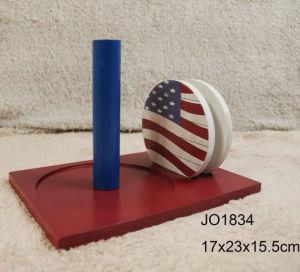 Vintage Wooden Us Flag Design Coaster Set pictures & photos