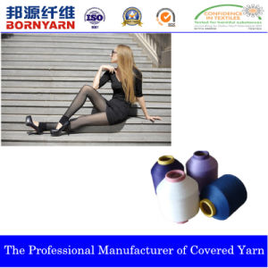 Spandex Covered by Nylon Yarn Produced by Qingdao Bangyuan pictures & photos