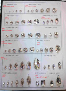 Catalogue Crystal Rhinestone Flat Back Glass Sew on Stones pictures & photos