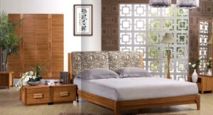 Solid Wood Bed (6106#)