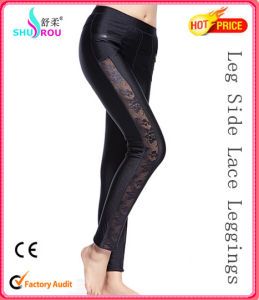 Fashion Lace Trousers Clothing Leggings Pants for Women (SR-2007)