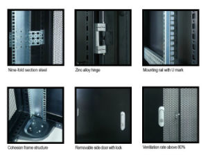 19′′server Cabinet 9 Folds Structures with Front Flat Perforated Door pictures & photos