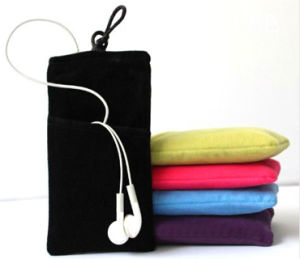 New Wholesale Velvet Cell Phone Drawstring Bag (M108) pictures & photos