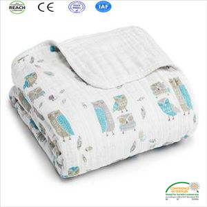 Cotton Baby Skin Protective Baby Shower Blanket pictures & photos