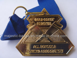 Customized Plating Gold &Soft Enamel Medallion pictures & photos