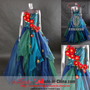 Organza Wedding Gown/Evening Dress (E-132)