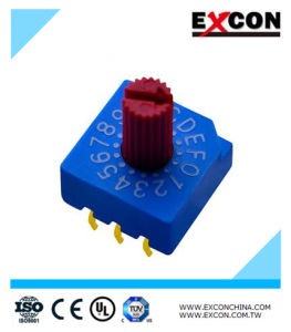 Electrical Dial Rotary Switch Position Rotary DIP Switch Excon