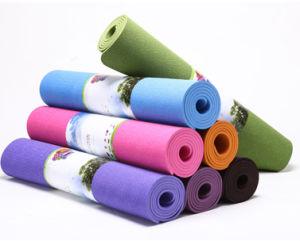 100% TPE Foam Eco Friendly Single Color Yoga Mat pictures & photos