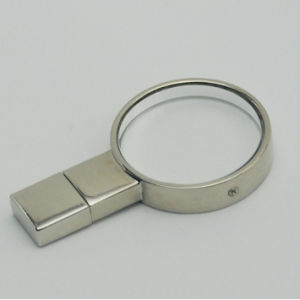 Round Crystal USB Disk Laser Engraving Logo pictures & photos