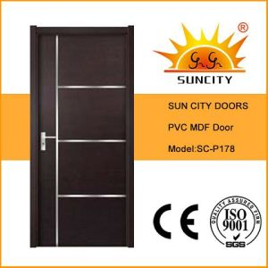 Interior Solid Core MDF Door with PVC Coated (SC-P178) pictures & photos