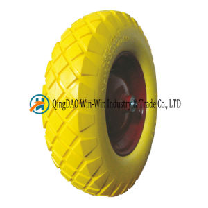 4.80/4.00-8 PU Foam Trolley Wheel pictures & photos