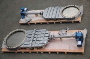 Manual Flange Slurry Knife Gate Valve (YCPZ43) pictures & photos