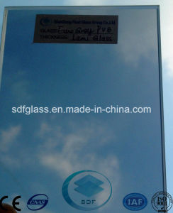 Double Clear Float Glass+ Ford Blue PVB Laminated Glass