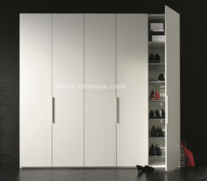 Modern White Lacquer Wardrobe with ISO and E1 Standard