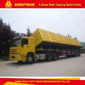 Tri-Axles 80 Tons Side Dump/Tipper Semi Trailer pictures & photos