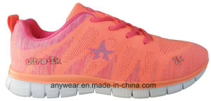 Athletic Women Flyknit Footwear Gym Sports Shoes (516-5966) pictures & photos