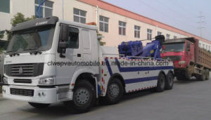 HOWO Road Rescue Truck 8*4 Heavy Duty Wreck Towing Truck pictures & photos
