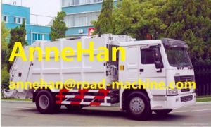 Automatic HOWO 4X2 Compacted Rear Load Garbage Truck 12m3 371HP Euroiii pictures & photos