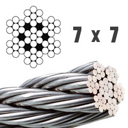 Stainless Steel Wire Rope 7X7 pictures & photos