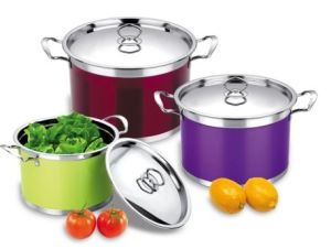 Colour Stainless Steel Stockpot with Stainless Steel Cover pictures & photos