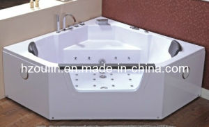 White Acrylic Sanitary Whirlpool Massage Bathtub (OL-643) pictures & photos