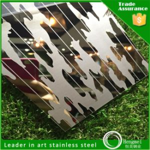 Color Mirror Etched Decorative Cold Rolled Stainless Steel Sheet pictures & photos