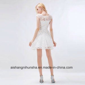 Bridesmaid Dresses Sequins O-Neck A-Line Cap Sleeve Party Gowns pictures & photos