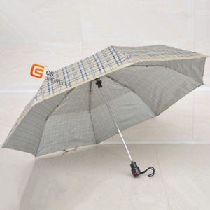 21*8k Three Fold Umbrella Sliver Coated Fabric (YS-3F3002A) pictures & photos