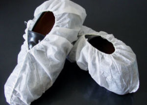 China Factory Stock Whole Sale Disposable CPE Nonwoven Shoe Cover pictures & photos
